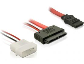 DeLock Cable Micro SATA male + 2 pin Power 5 V > SATA 7 pin 30cm